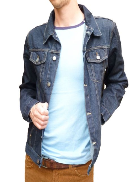 Anderson - Mens Dark Blue Denim Jacket (Indigo Blue)